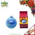 Christmas glass ball with customize printing logo