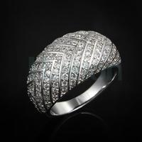 special wedding ring with more AAA CZ diamond