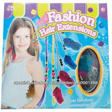 Vestido- hasta las extensiones de cabello para los niños
