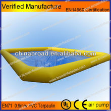 Durable 0.9mm PVC inflatable pool for water ball or paddle boats