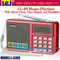 L-A168 mini speaker usb, music box mini usb speaker with fm radio alarm clock