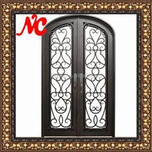 Reinforced steel entrance door for residence