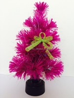 Bowknot Decorated Small Roeso Fiber Optic Christmas Tree With Plastic Stand