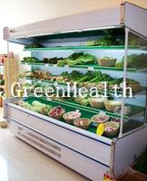 2m Showcase Supermarket Multideck Open Chiller 4 Shelves With Air Curtain