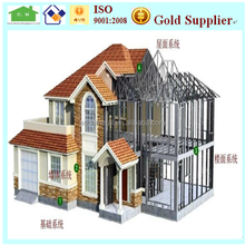 2015 Alibaba supplier quality prefabricated warehouse steel prefab homes structure house for sale