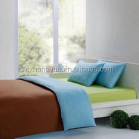 Plain weave Micro fiber Polyester Dyed Textile Fabric(P/D) for hotel bedsheet fabric.dyed bedding fabric