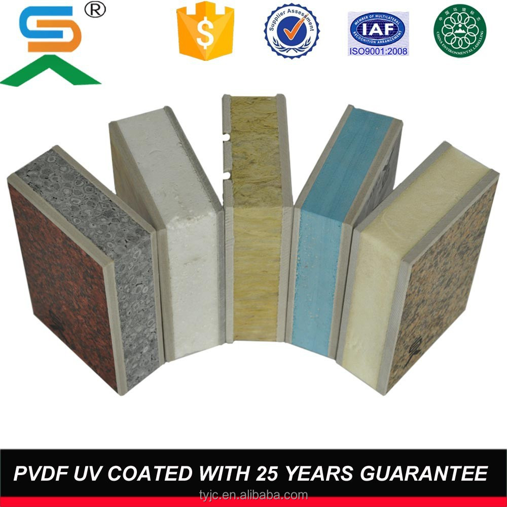 Thermal insulation fireproof exterior wall facade panel for Fireproof wall insulation