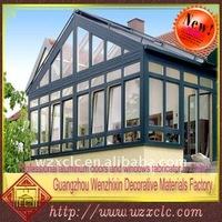 outdoor extension aluminum glass sun room
