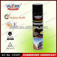 Liquid rubber waterproofing spray