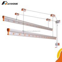 2015 new arriving hand lifting aluminium ceiling mounted clothes drying rack