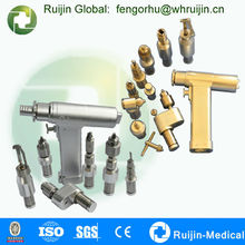 Orthopedic surgeon in hospital need multifunctional hand tool with several attachments to cut and saw during operations