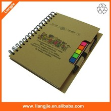ECO craft cover print logo PET sticky note Multi-function notebook with pen