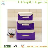 Fabric storage organizer box home non woven storage organizer
