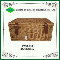 Woven wicker hampers large wicker basket with lid