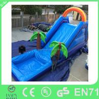 2015 funny lake kids boboi boy inflatable water slide