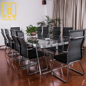 Хорошее качество дешевой цене мебель акриловые офисный стол с 10 мест