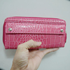 Hardware simplicity fashion unique style long Creative crocodile leather wallet for lady