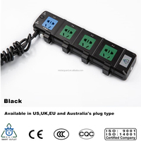 4 power outlet energy saving home automation extension lead