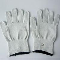 Silver fiber material tens ems unit massge conductive gloves for face(S/M/L)