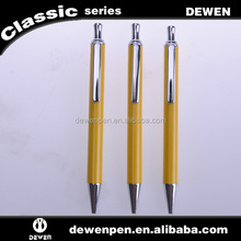 yellow click gel ballpoint pen promotion product