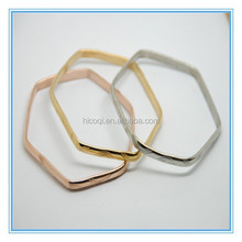 2015 New Arrival Top Quality Stainless Steel Hexagon Wholesale Bangles