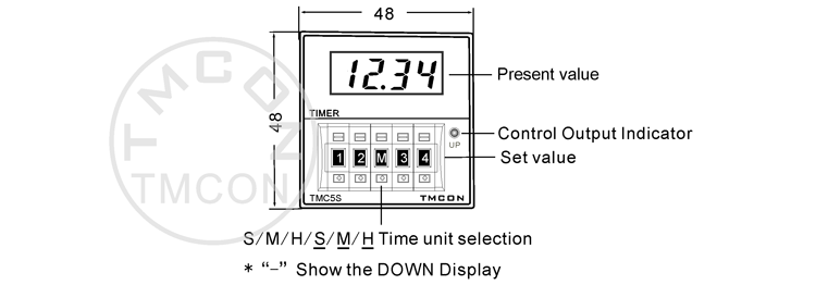 tmc5s dh48s h5cn tmcon din 48 48mm led display digital timer switch digital time relay