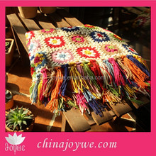 High Quality Arcylic Blanket Handmade Knitted Baby Blanket With Tassels