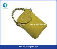fashionable custom pu leather cell phone bag