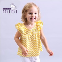 New baby cotton blouse tops short sleeve o-neck rblouse baby brand tees striped summer casual shirt