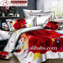 Luxury wedding modern bed sheet sets 100% cotton 3d embroidery king comforter 3d cotton comforter sheet cover