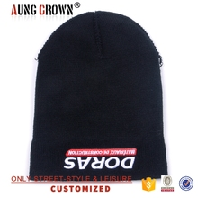 embroidered knitted men winter beanie hat
