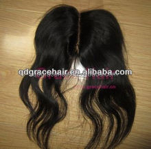 Retail Malaysian hair lace top closure with middle partting,large stock