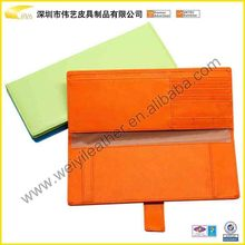Colorful Popular Multifunction High Quality Fashion Design Wholesale Custom Genuine Leather Passport Case
