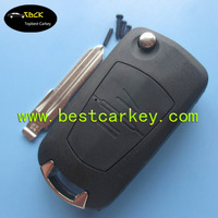 Topbest 2 button plastic car key covers for opel, opel key cover with HU46 blade
