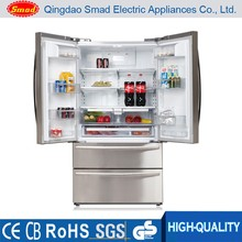 No frost french door refrigerator with ice maker dual cycle