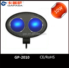 New product 10w led driving on Truck Atv 4WD Boat Mining 9-30VDC 10w led work light 10w blue point warning led headlight