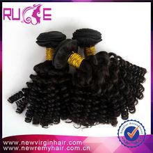100% virgin remy full end no SPLIT healthy hot mongolian kinky curly hair