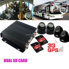 Popular Mini SD card 4-channel car DVR 1080P 3G with talkback remote control alarm voice recording