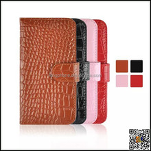 Crocodile pattern card holder genuine leather case for iphone 6 4.7 and 5.5 inch