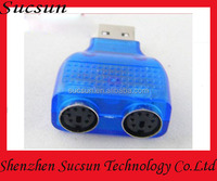 USB to PS/2 PS2 Keyboard Mouse Adapter Converter