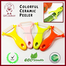 Amazon top seller colorful innovative design ABS handle vegetable ceramic peeler