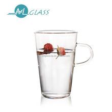 wholesale glass cup with handle 400ml handmade high borosilicate glassware N6300