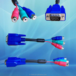 D-sub 9 pin to 3 rca cable