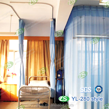 Hospital Screen Curtain with Ceiling Mounted Aluminum Curtain Track
