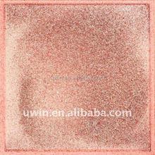 600*600mm pink glitter shiny tile,decorative floor tile