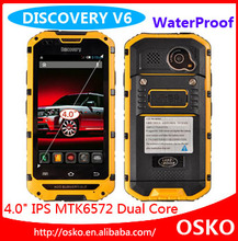 Discovery V6 MTK6572 Waterproof Shockproof Multi language Dual SIM Card Phone