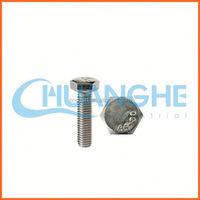 China supplier m22 plain din 933 hex bolt black