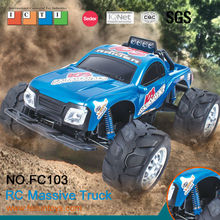 FC103 new design 4CH 1:10 digital 4wd cross country plastic rc truck toy with lights