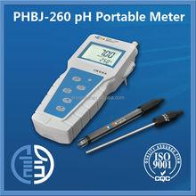 PHBJ-260 Portable PH Meter pH /mV(ORP)/Temp blood ph meter digital ph meter