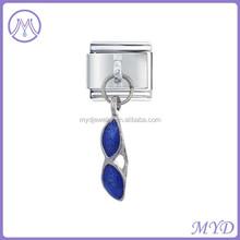 Blue Enameled Sunglasses charm Italian charms hanging charms